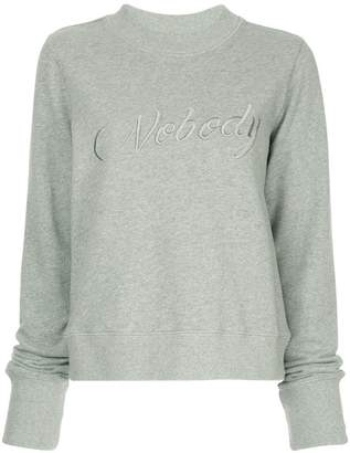 Nobody Denim Embroidered Favourite Sweat Collins