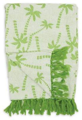 Bed Bath & Beyond Chenille Palm Trees Throw Blanket in Green