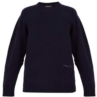 Undercover Crew Neck Wool Blend Sweater - Mens - Navy