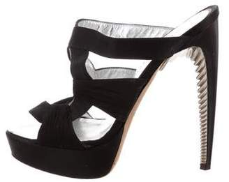 DSQUARED2 Satin Platform Sandals