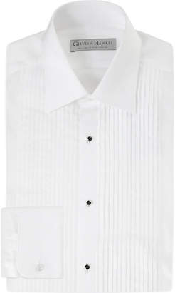 Gieves & Hawkes Pleated tailored-fit cotton dinner shirt