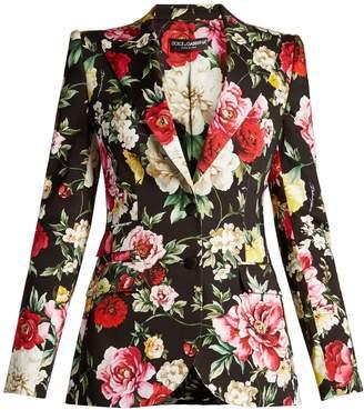 Dolce & Gabbana Floral-print peak-lapel blazer