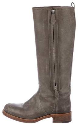 Hermes Suede Knee-High Boots