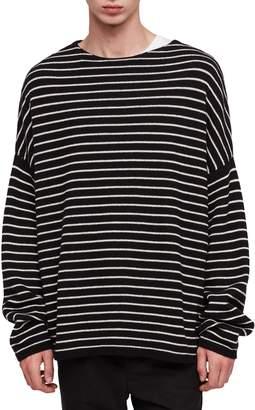 AllSaints Marty Stripe Crewneck Sweater