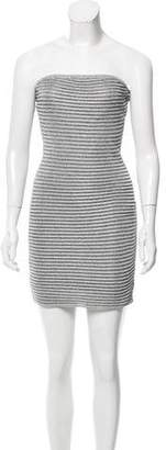 Jay Ahr Metallic Mini Dress