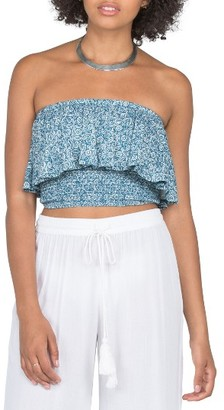 Women's Volcom Beckon Me Strapless Crop Top $35 thestylecure.com