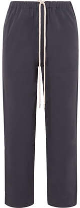 Bassike Cotton-canvas Pants - Navy