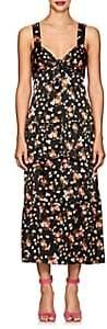 A.L.C. Women's Cruz Floral Stretch-Silk Knotted Dress - Black