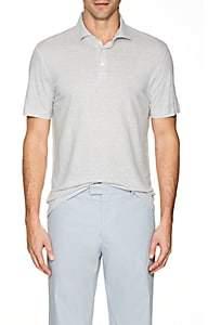 Napoleonerba Men's Slub Linen Polo Shirt - Light Gray
