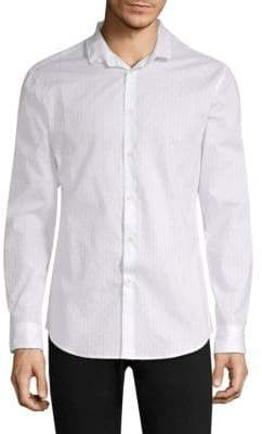 John Varvatos Wire Collar Slim Sport Shirt