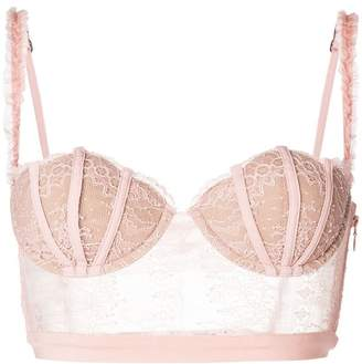 La Perla long-line lace shell bra