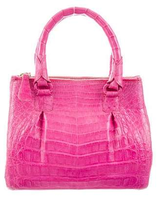 Nancy Gonzalez Crocodile Mini Plissé Crossbody Bag