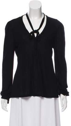 Frame V-Neck Long Sleeve Top w/ Tags
