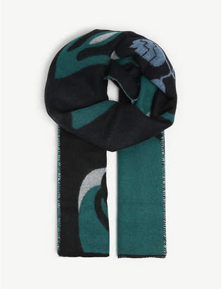 Maje Dream Tomorrow wool-blend scarf