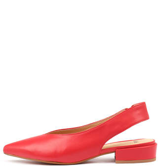 Mollini Emmit Red Shoes Womens Shoes Casual Flat Shoes