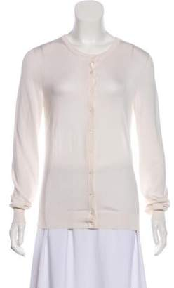 Dolce & Gabbana Lace-Accented Button-Up Cardigan