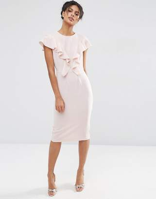 ASOS Ruffle Front Wiggle Dress $68 thestylecure.com