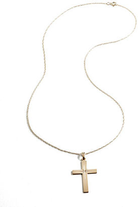 Lord & Taylor 14K Gold Cross Pendant Necklace $500 thestylecure.com
