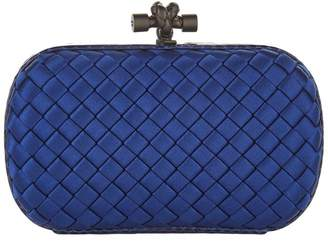 Bottega Veneta Satin Intrecciato Knot Clutch Bag