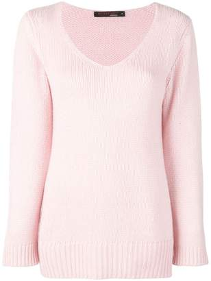Incentive! Cashmere scoop neck knitted jumper