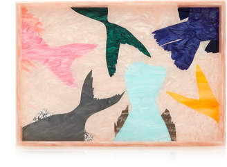 Edie Parker Schooled Large Printed Acrylic Tray