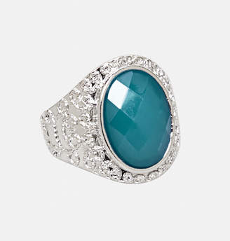 Avenue Filigree Trim Stone Stretch Ring
