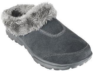As Is Skechers GOwalk Suede Clogs w/ Faux Fur Lining $19.95 thestylecure.com