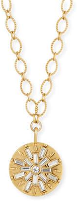 Sequin Crystal Baguette Burst Pendant Necklace