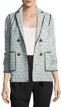 St. John Adriana Tweed Double-Breasted Jacket