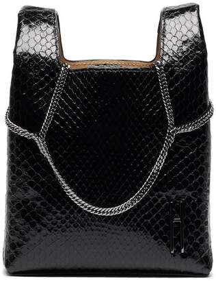 Hayward Mini Chain Python Tote Bag