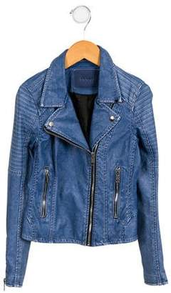 Blank NYC Girls' Vegan Leather Jacket