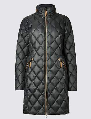 M&S Collection Down & Feather Coat with StormwearTM