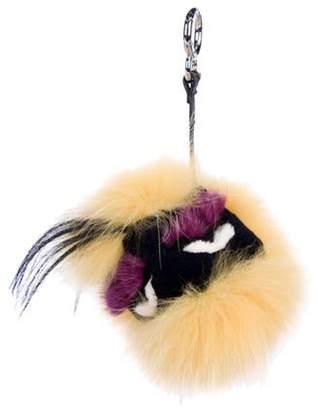 Fendi Fur Yelly Bag Bug Charm Yellow Fur Yelly Bag Bug Charm