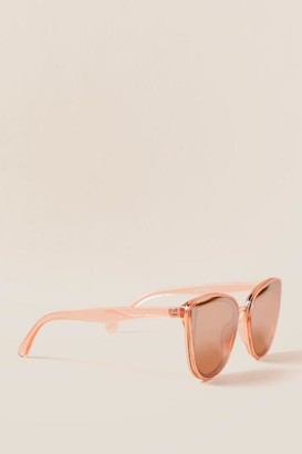 francesca's Mylene Cat Eye Sunglasses - Blush