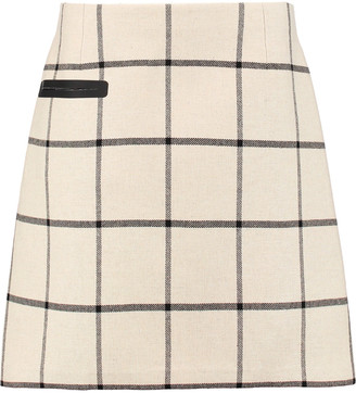 Tory Burch Checked woven mini skirt $250 thestylecure.com