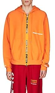 "Heron Preston Men's ""Handle With Care"" Cotton Hoodie-Orange"