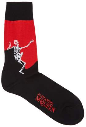 Alexander McQueen Dancing Skeleton Cotton-blend Socks