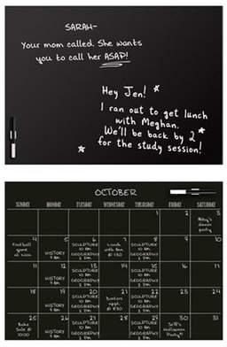 Brayden Studio Mazzone Calendar and Message Chalkboard Wall Decal