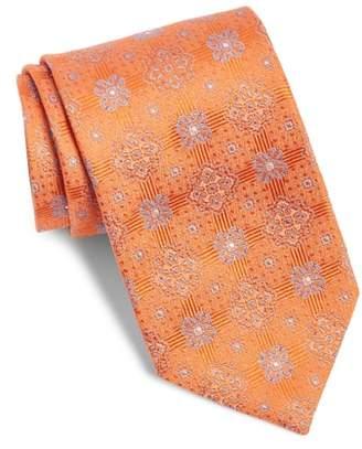 David Donahue Medallion Silk Tie