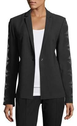 Elie Tahari Darcy Organza Long-Sleeve Blazer