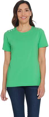 Linea By Louis Dell'olio by Louis Dell'Olio Short-Sleeve Tee with Shoulder Detail