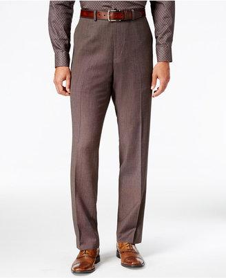 Sean John Men's Classic-Fit Brown Pindot Suit Pants $120 thestylecure.com
