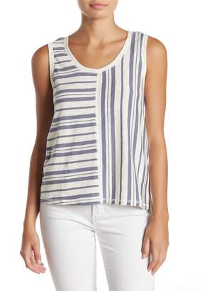 Susina Mixed Stripe Knit Tank Top (Regular & Petite)