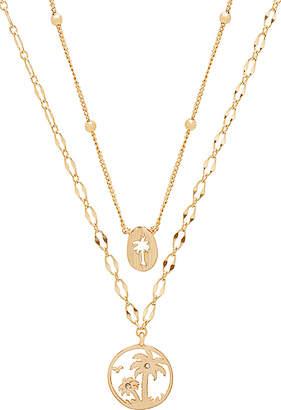 Ettika Layered Palm Tree Necklace