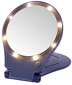 Floxite 5X Magnifying 360 Degree Lighted Home &Travel Mirror