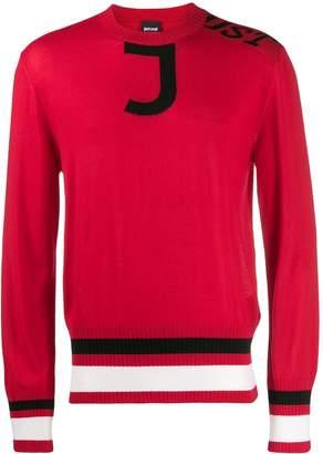 Just Cavalli intarsia crewneck sweater