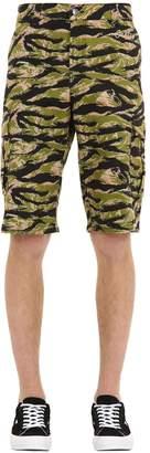 Oakley Tnp Tnp Camo Print Cotton Blend Cargo Shorts