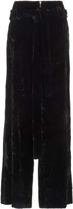 Proenza Schouler Crushed Velvet Trousers