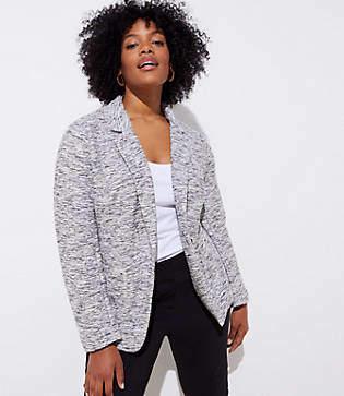 LOFT Plus Textured Knit Patch Pocket Blazer