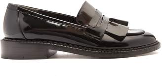 CLERGERIE Joux ruffle patent-leather loafers